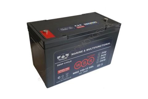 Cвинцово-кислотная аккумуляторная батарея WBR Marine MBG 100-12 GEL