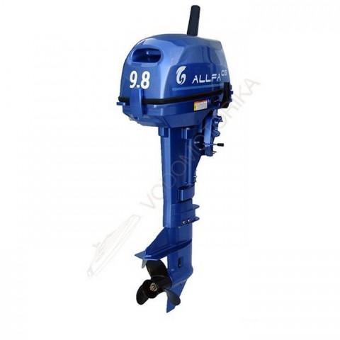Лодочный мотор ALLFA CG T9.8 (9.8 л.с. двухтактный) (синий, зеленый, красный)