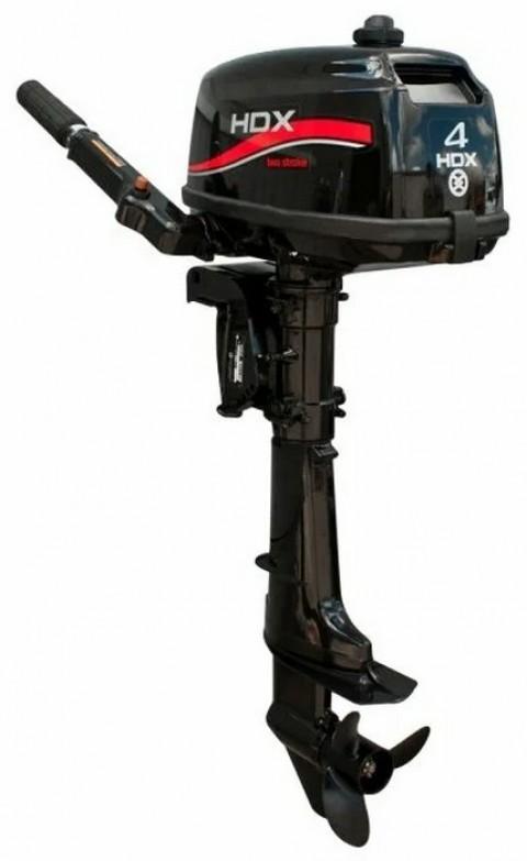 Лодочный мотор HDX T 4 BMS NEW 4 л.с. двухтактный