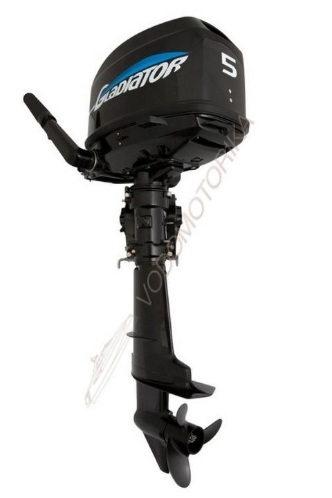 Лодочный мотор GLADIATOR G5FHS 5 л.с. двухтактный