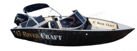 Алюминиевая моторно-гребная лодка RIVERCRAFT RC 47 Fishing