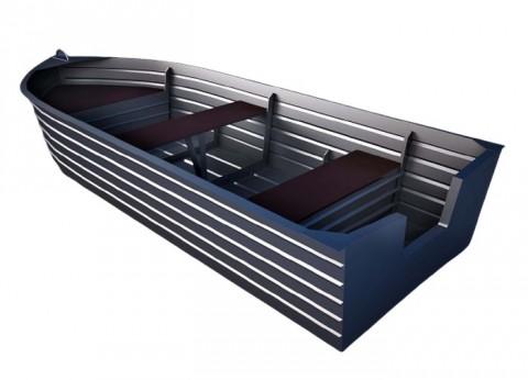 Алюминиевая моторно-гребная лодка Вятка 37-600