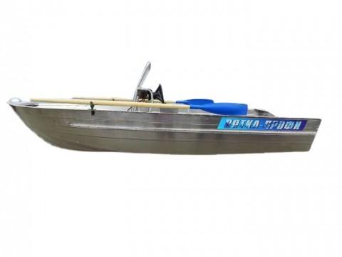 Алюминиевая лодка Вятка Профи 38 с консолью
