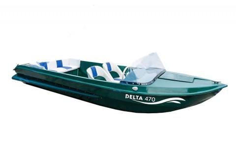Катер стеклопластиковый DELTA 470
