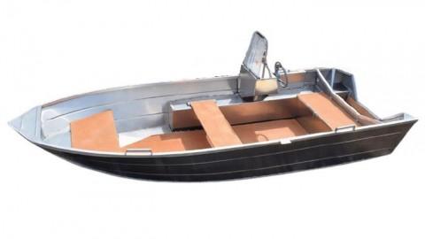 Алюминиевая лодка Алюмакс-415 с консолью