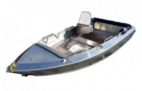 Алюминиевая лодка Алюмакс-435 с консолью